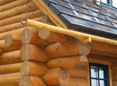 Wooden eaves